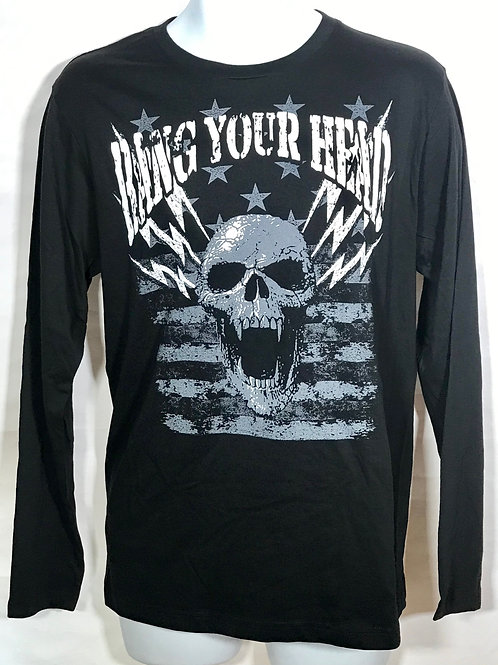 BYH SKULL MENS LONG SLEEVE SHIRT