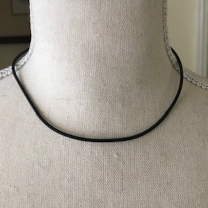 "CHOKER NECKLACE BLK / 16"" INCH"