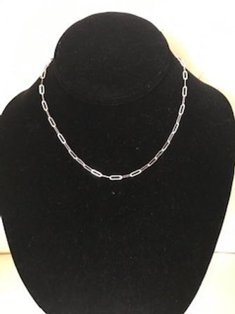 """UNISEX STERLING SILVER 16"""" CHAIN  NECKLACE"""