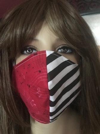 BYH half stripe / Hot Pink Face mask