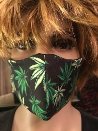 HEMP LEAF FACE MASK ( UNISEX )