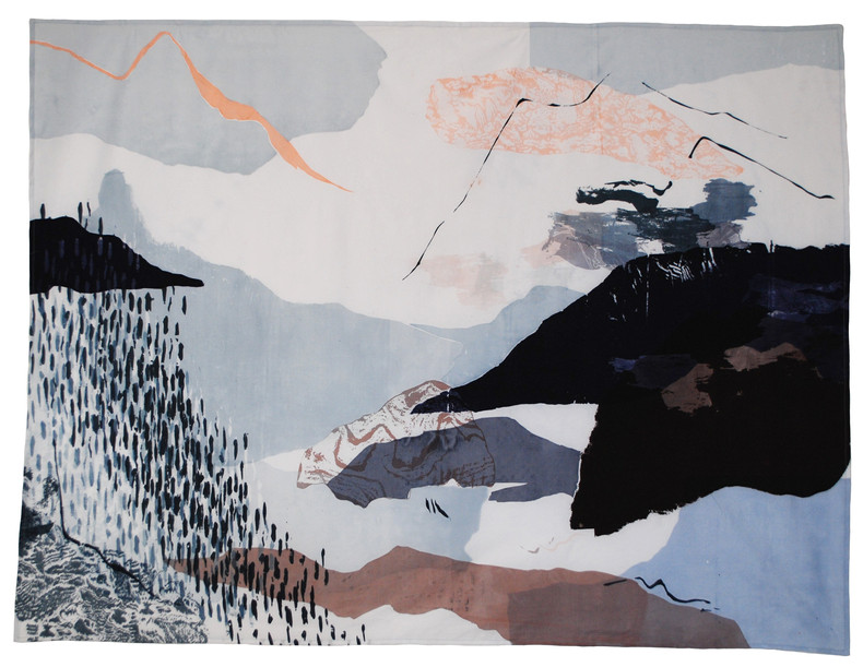 'jungfrau' textile art piece