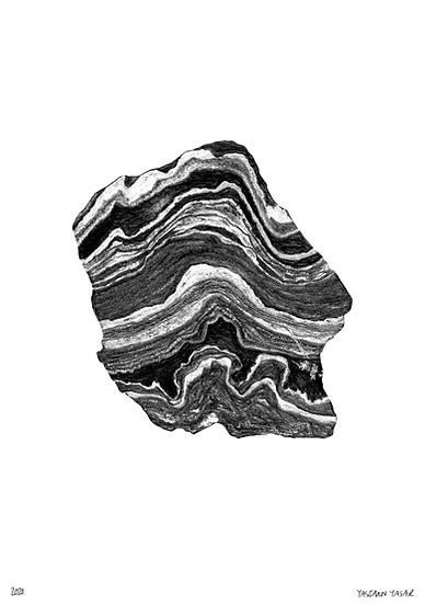 Rock Study (Giclee Print), A5