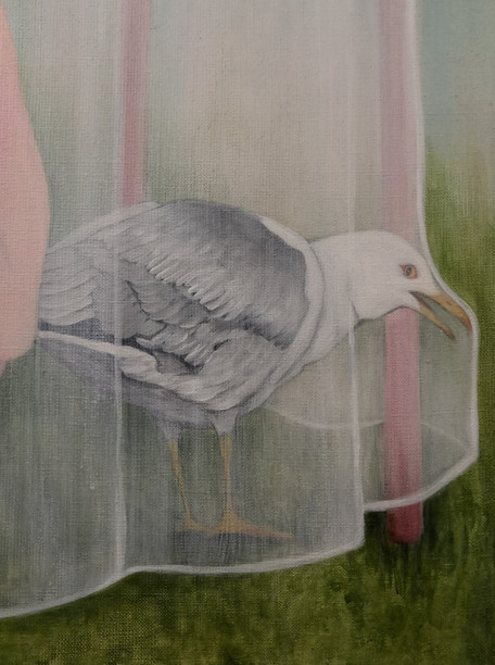 Hide and seek (detail of a painting)