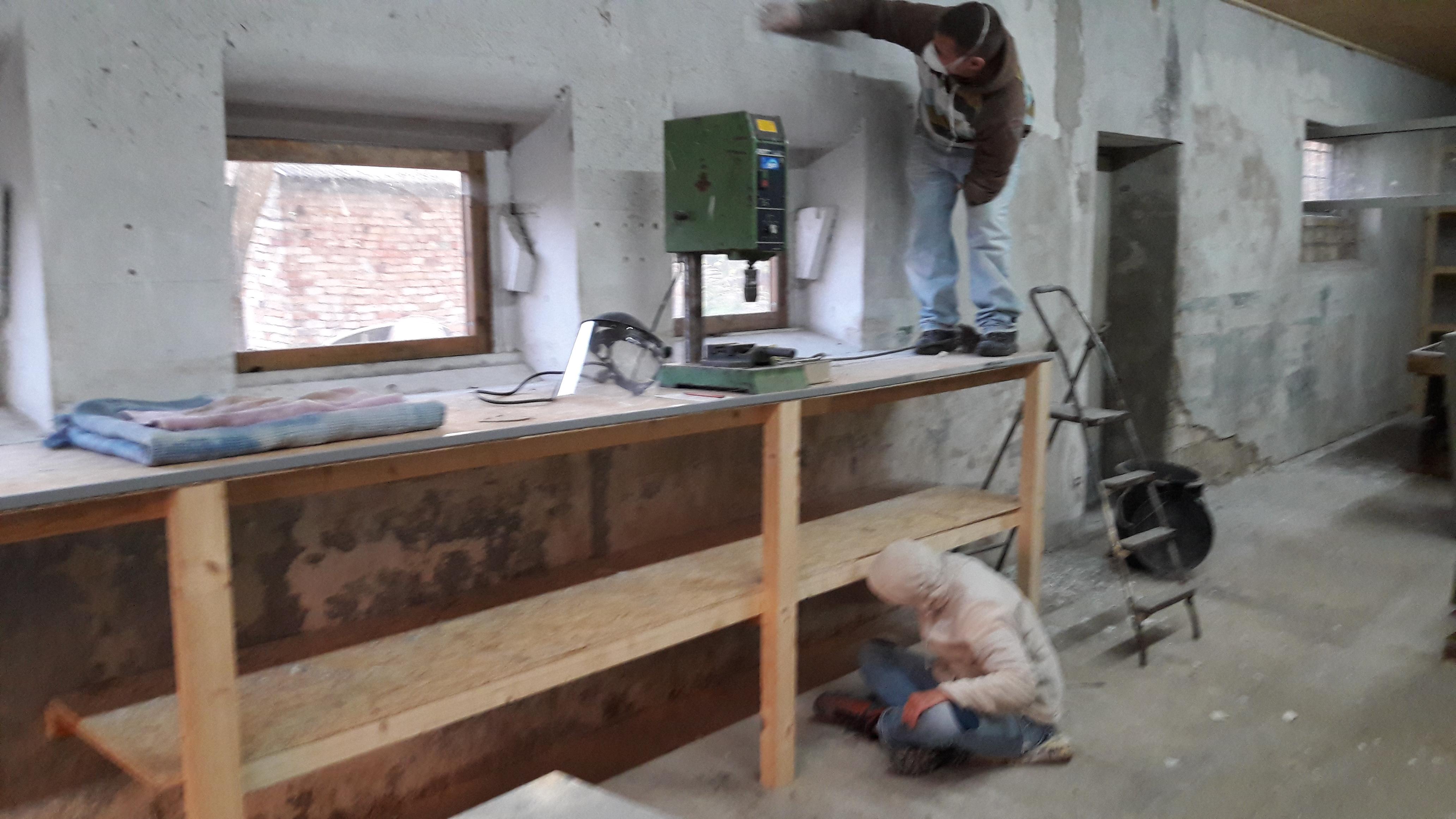 Bauarbeit Klangwerkstatt