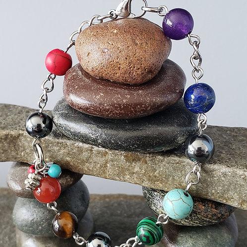 Bracelet les 7 couleurs des chakras