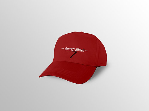Red Spiffy Dad Cap