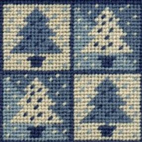 Winter Trees Pincushion Needlepoint Kit