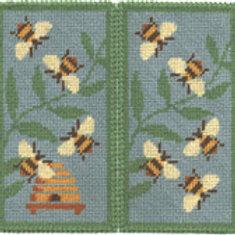 Blue Bees Glasses Case Needlepoint Kit