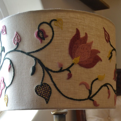 Crewelwork 'Tendrils' Lampshade Kit: Spring