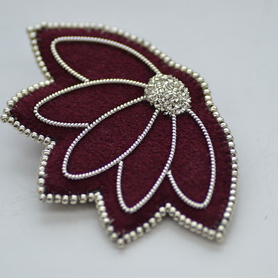 goldwork, silver, copper, brooch, embroi