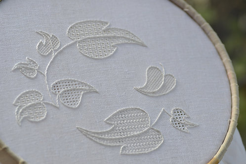 Pulled Thread 'Leaves' Whitework Embroidery Kit