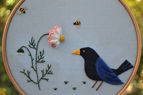 Mixed Techniques 'In the Garden' Embroidery Kit