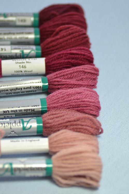 Complete range: 140 Dull Rose Pink
