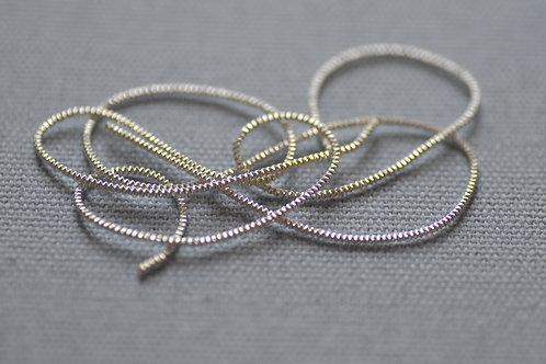 Bright Check Purl no.6 - Silver