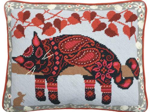 Painted Cat Needlepoint Cushion Kit