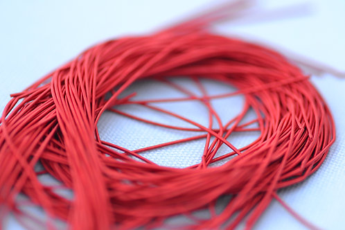 Rough Purl no.6 - Bright Red