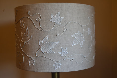 Hand Embroidered Whitework Lampshade