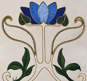 art nouveau waterlily goldwork.jpg