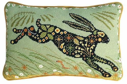 Painted Hare Needlepoint Cushion Kit