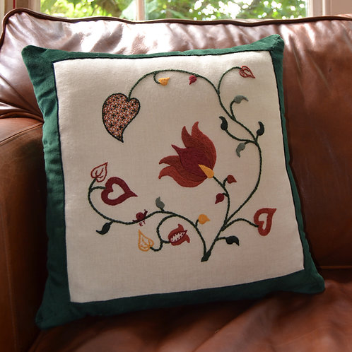 Crewelwork 'Tendrils' Cushion Kit: Autumn