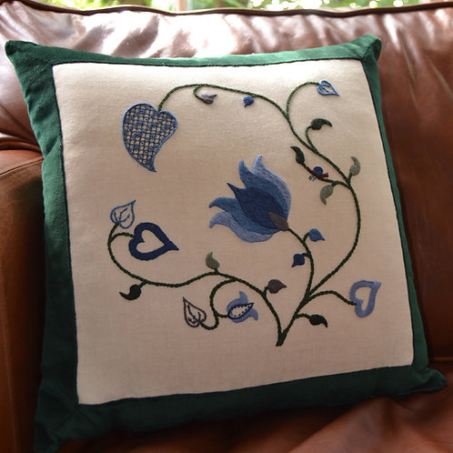 Crewelwork 'Tendrils' Cushion Kit: Winter