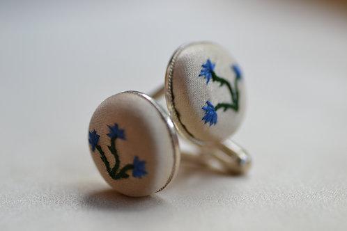Cufflinks - Blue Cornflowers