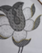 blackwork tulip