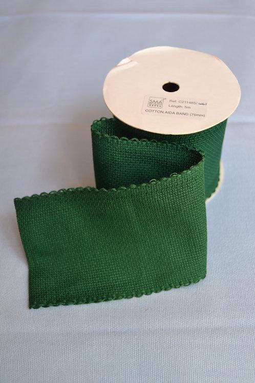 Aida 16hpi stitching band - Dark green