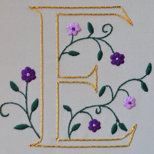 Illuminated Letter Embroidery Kit