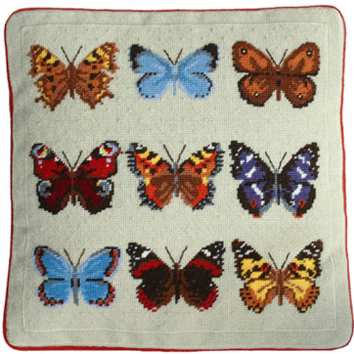 The Butterfly Collection Needlepoint Cushion Kit