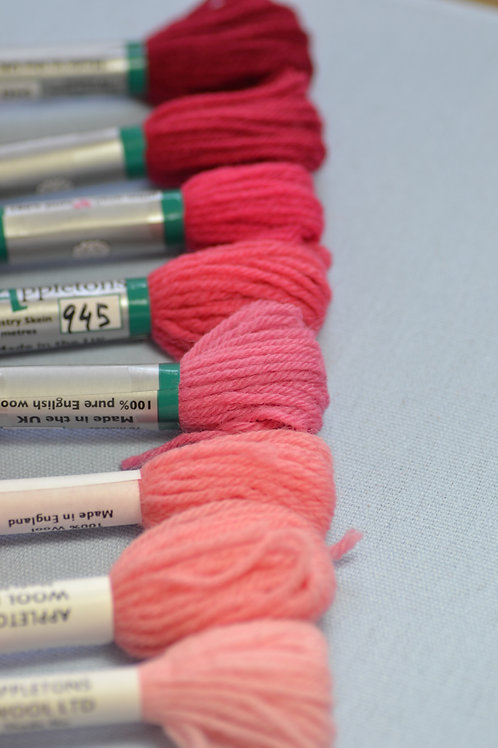 Complete range: 940 Bright Rose Pink
