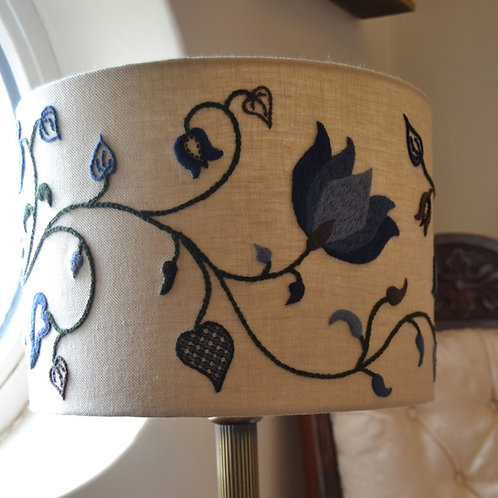 Crewelwork Lampshade - Winter