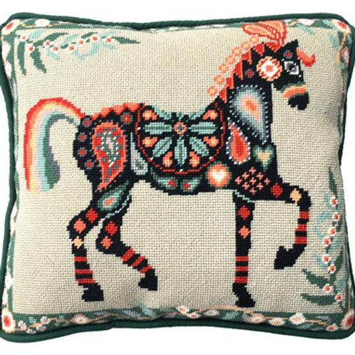 Painted Pony Needlepoint Cushion Kit