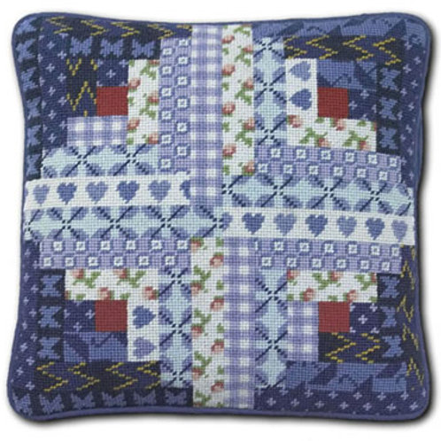 Log Cabin Needlepoint Cushion Kit