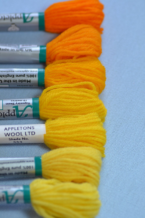 Complete range: 550 Bright Yellow