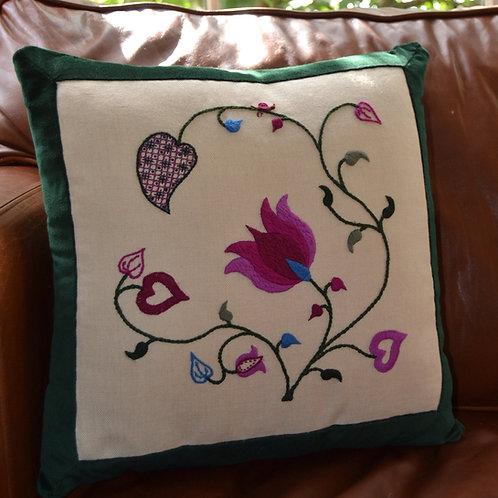 Crewelwork 'Tendrils' Cushion Kit: Summer