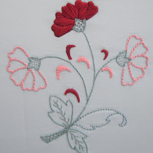 Dianthus Surface Embroidery Kit