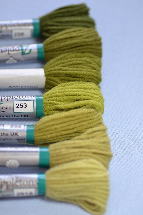 Complete range: 250 Grass Green