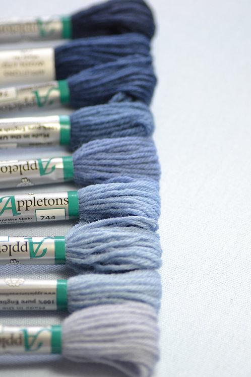 Complete range: 740 Bright China Blue