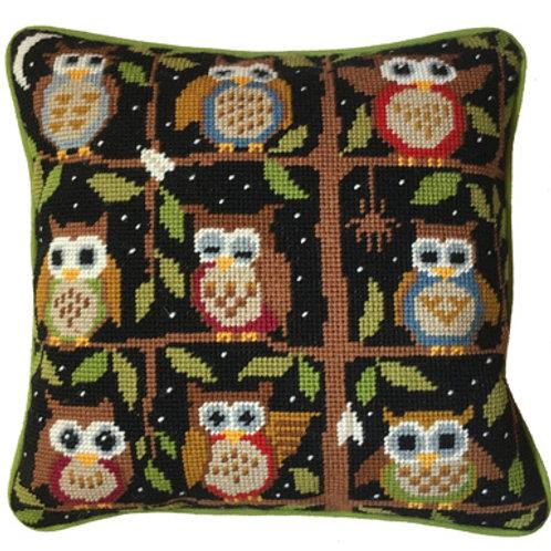Night Owls Needlepoint Cushion Kit