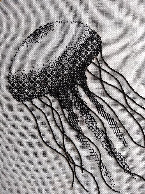 Blackwork 'Jellyfish' Kit