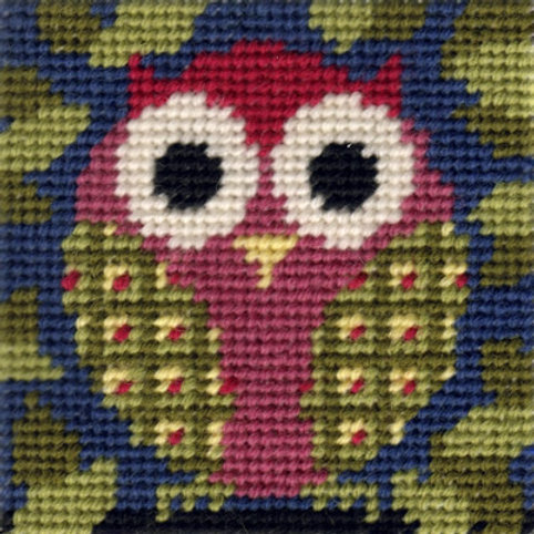 Mini Owl Needlepoint Kit