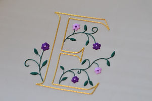 goldwork illuminated letter surface embroidery