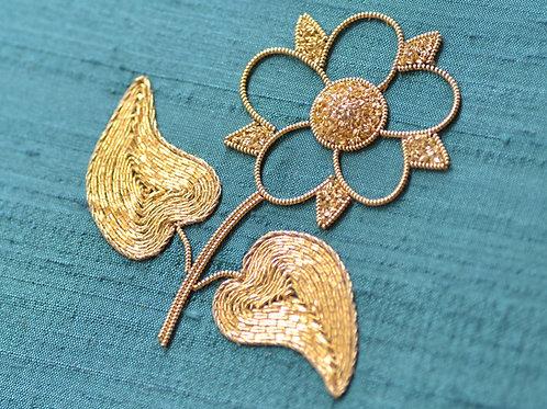 Goldwork 'Dog Rose' Embroidery Kit