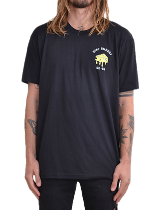 Stay Cheesy T-Shirt - Black