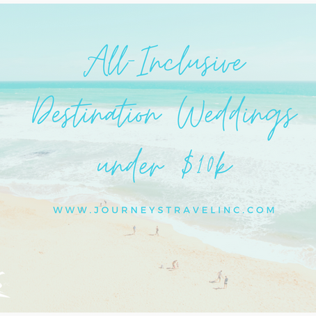 All-Inclusive Destination Weddings under $10k