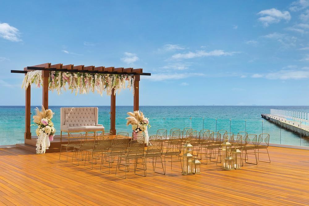 Hilton Playa Del Carmen Destination Wedding Rooftop
