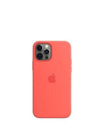 מגן כיסוי מקורי לאייפון 12 פרו ורוד פרי תומך MagSafe