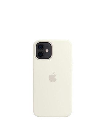 כיסוי מקורי לאייפון 12 לבן תומך MagSafe